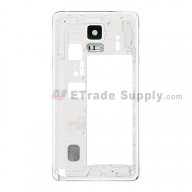 For Samsung Galaxy Note 4 SM-N910F/SM-N910H/SM-N910R4 Rear Housing Replacement - White - Grade S+