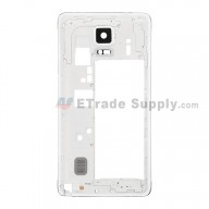 For Samsung Galaxy Note 4 SM-N910V Rear Housing Replacement - White - Grade S+