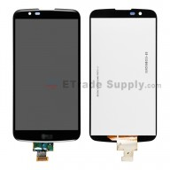 For LG K10 LCD Screen and Digitizer Assembly Replacement - Black - With Logo - Grade S