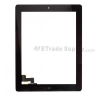 For Apple iPad 2 Digitizer Touch Screen Assembly Replacement - Black - Grade R