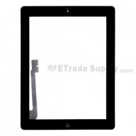 For Apple iPad 3 Digitizer Touch Screen Assembly  Replacement - Black - Grade R