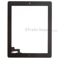For Apple iPad 2 Digitizer Touch Screen Assembly Replacement (Wifi Plus 3G Version) - Black - Grade R