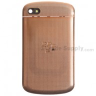For BlackBerry Q10 Battery Door and Top Cover Replacement - Gold - Grade R