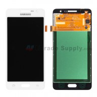 For Samsung Galaxy Grand Prime SM-G530H LCD Screen and Digitizer Assembly Replacement - White - With Logo - Grade S+