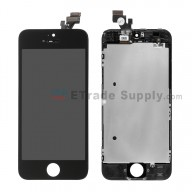 For Apple iPhone 5 LCD Screen and Digitizer Assembly with Frame Replacement - Black - Grade S