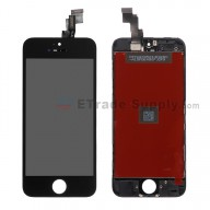 For Apple iPhone 5C LCD Screen and Digitizer Assembly with Frame Replacement - Black - Grade S