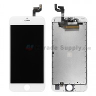 For Apple iPhone 6S LCD Screen and Digitizer Assembly with Frame Replacement - White - Grade S