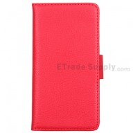 For LG Optimus G Series Leather Case - Red - Grade R