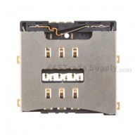 For Apple iPhone 4 SIM Card Reader Contact with Bracket Replacement (AT&T) - Grade S+