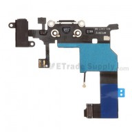 For Apple iPhone 5 Charging Port Flex Cable Ribbon Replacement - Black - Grade S+