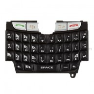 For BlackBerry 8800 Keypad Replacement - Black - Grade S+