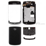 For BlackBerry Bold 9700 Complete Housing Replacement - Black - Grade A