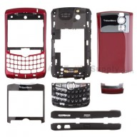 For BlackBerry Curve 8300 Complete Housing Replacement - Red - Grade S+
