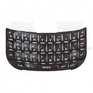 For BlackBerry Curve 8520, 8530 AZERTY Keypad Replacement ,Black - Grade S+