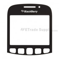 For BlackBerry Curve 9320 Glass Lens Replacement - Black - Grade S+