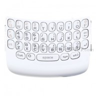 For BlackBerry Curve 9360, 9350, 9370 QWERTY Keypad with Bezel  Replacement ,White - Grade S+
