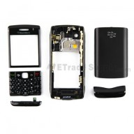 For BlackBerry Pearl 3G 9100 Housing Replacement - Black - Grade S+