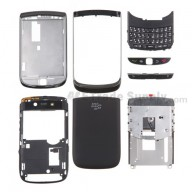For BlackBerry Torch 9800 Complete Housing Replacement ,Black - Grade S+