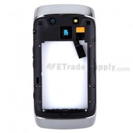 For BlackBerry Torch 9860, 9850 Rear Housing Assembly with Bezel Replacement - Black - Grade S+