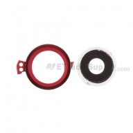For HTC One S Camera Bezel and Camera Lens  Replacement ,Red - Grade S+