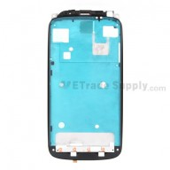 For HTC One S Front Housing Replacement - Black - Grade A