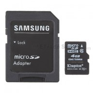 For Kingston MicroSD Cards with adapters 4GB - Grade S+