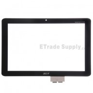 For Acer Iconia Tab A210 Digitizer Touch Screen Replacement - Black - With Logo - Grade S+