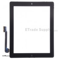For Apple iPad 4 Digitizer Touch Screen Assembly Replacement (Wifi Version) - Black - Grade S