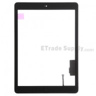 For Apple iPad Air Digitizer Touch Screen Assembly Replacement (Wifi + Cellular) - Black - Grade R