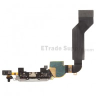 For Apple iPhone 4S Charging Port Flex Cable Ribbon Replacement - White - Grade S+