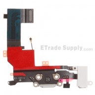 For Apple iPhone 5S Charging Port Flex Cable Ribbon Replacement - White - Grade S+