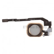 For Apple iPhone 5S/SE Home Button Assembly with Flex Cable Ribbon Replacement - Gold - Grade S+