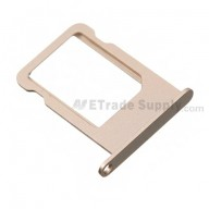 For Apple iPhone 5S/SE SIM Card Tray Replacement - Gold - Grade S+