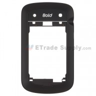 For BlackBerry Bold Touch 9900 Rear Housing Replacement - Black - Grade S+