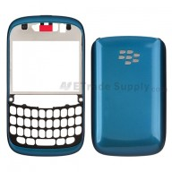 For BlackBerry Curve 9220 Front Housing and Battery Door  Replacement ,Turquoise - Grade S+