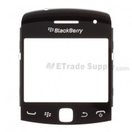 For BlackBerry Curve 9360, 9350, 9370 Glass Lens with Frame  Replacement ,Black - Grade S+