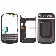 For BlackBerry Q10 Housing and QWERTY Keypad Assembly Replacement - Black - Grade S+