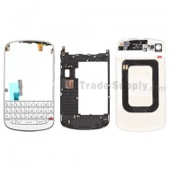 For BlackBerry Q10 Housing and QWERTY Keypad Assembly Replacement - White - Grade S+