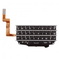 For BlackBerry Q10 Keypad and Keyboard Assembly Replacement - Black - Grade S+