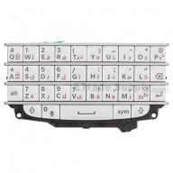 For BlackBerry Q10 Keypad and Keyboard Assembly Replacement (Arabic) - White - Grade S+