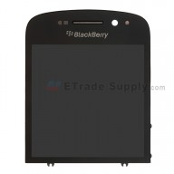 For BlackBerry Q10 LCD Screen and Digitizer Assembly with Frame Replacement - Black - Grade S+