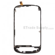 For BlackBerry Q10 Middle Frame Replacement ,Black - Grade S+