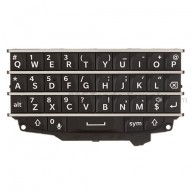 For BlackBerry Q10 QWERTY Keypad Replacement ,Black - Grade S+
