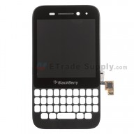 For BlackBerry Q5 LCD Screen and Digitizer Assembly with Frame  Replacement (LCD-49754-001/111) - Black - Grade S+