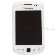 For BlackBerry Torch 2 9810 Upper Slide Assembly with LCD and Digitizer Replacement - White - Grade S+