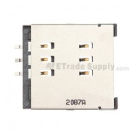 For BlackBerry Torch 9800 SIM Card Reader Contact with Bracket Replacement - Grade S+