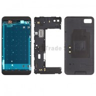 For BlackBerry Z10 Complete Housing Replacement (4G Version) - Black - Grade S+