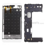 For BlackBerry Z10 Rear Housing Assembly Replacement (4G Version) - White - Grade S+