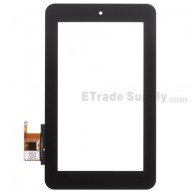 For HP Slate 7 Digitizer Touch Screen  Replacement - Black - Without Any Logo - Grade S+