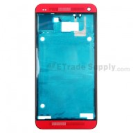 For HTC One Front Housing  Replacement (International Version) - Red - Grade S+